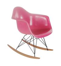 Set of Four Hot Pink Fiberglass Chairs by Charles Eames ...