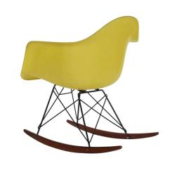 Yellow Rocking Chair Card Table And Chairs Lowes Mid Century Eames For Herman Miller Fiberglass