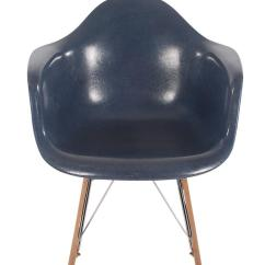 Navy Rocking Chair See Through Dining Chairs Mid Century Eames For Herman Miller Fiberglass