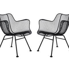 Mid Century Modern Wire Chair Ikea Mellby Covers Pair Of Sculptural Patio Lounge