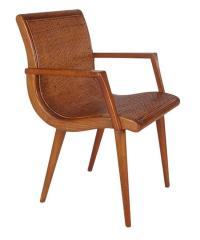 Mid-Century Modern Cane and Oak Danish Modern Style ...