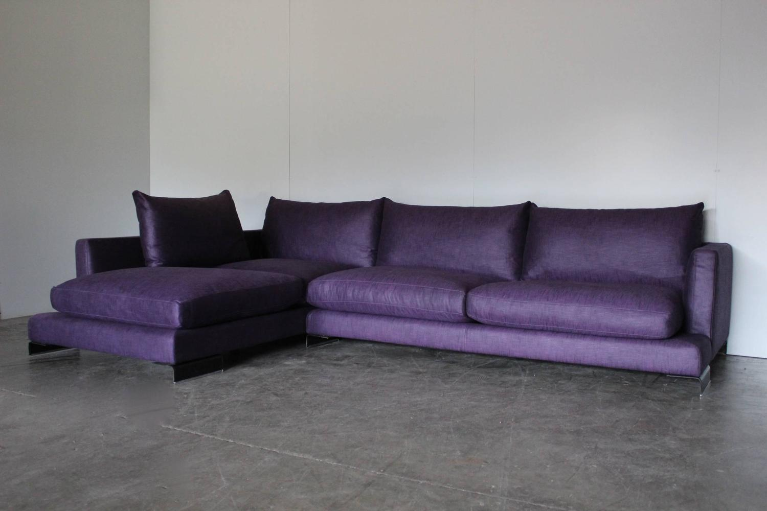 purple sofas for sale broyhill reclining sectional sofa flexform quotlong island quot l shape in and black