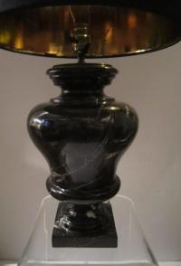 Vintage Solid Marble Table Lamp at 1stdibs