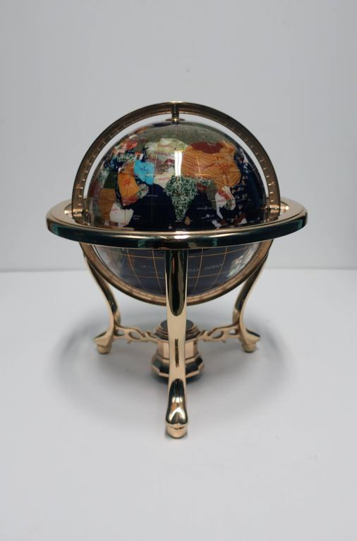 Beautiful World Globe Of Marble and Onyx For Sale at 1stdibs