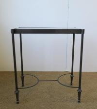 Small Side or End Table with Black Granite Marble Top in ...