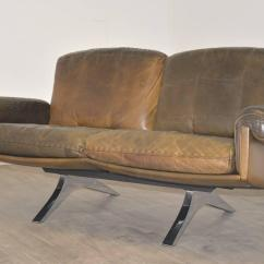 De Sede Sofa Vintage Black Leather Sets Ds 31 Two Seat Or Loveseat 1970s For