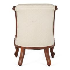 Victorian Rosewood Chairs Chair Cover Hire Romford English Carved Slipper Circa