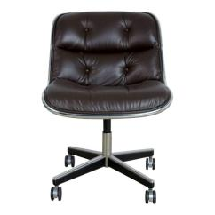 Desk Chair Brown Leather Universal Covers Amazon Charles Pollock For Knoll Dark Executive Mid Century Modern Circa