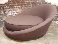 Milo Baughman Round Loveseat or Lounge Chair with Ottoman ...