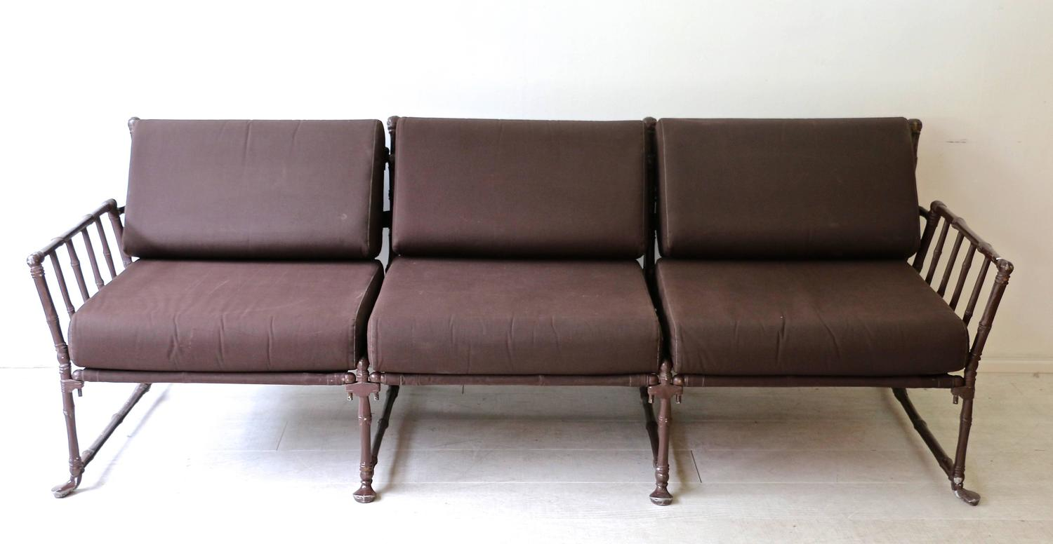 Big Sofa Christian 1980s Garden Living Room In Bamboo Like Iron At 1stdibs