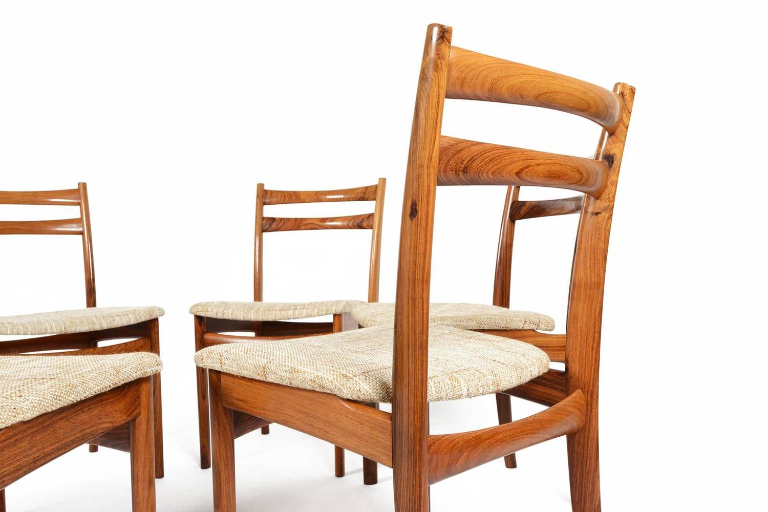 skovby rosewood dining chairs leather wood chair set of six møbelfabrik for