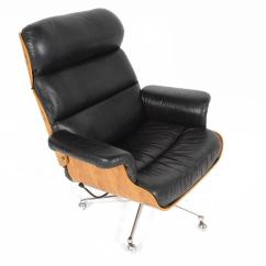 Eames Style Lounge Chair And Ottoman Rosewood Black Leather White Patio Chairs Martin Stoll Swivel With At 1stdibs