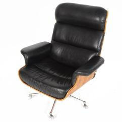 Swivel Chair And Ottoman Infant Play Martin Stoll Rosewood Leather With