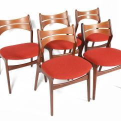 Erik Buck Chairs 4 Less Set Of Five Model 310 Dining In Teak At