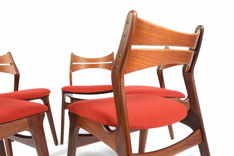 erik buck chairs jordan side chair set of five model 310 dining in teak at