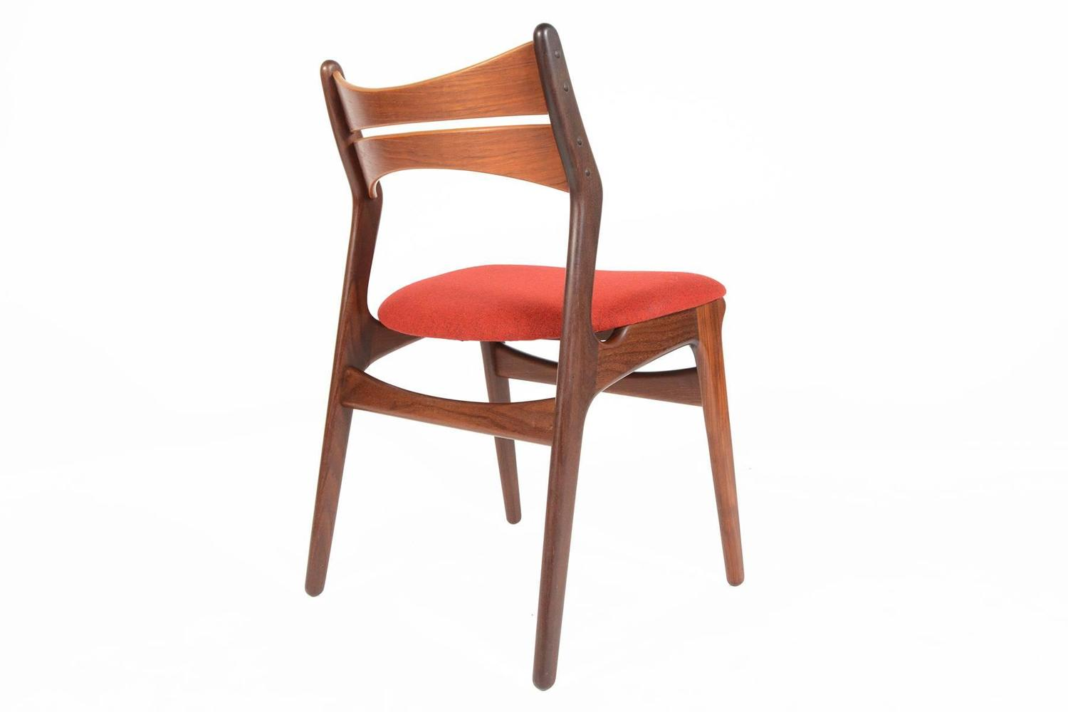 erik buck chairs floating fishing chair set of five model 310 dining in teak at
