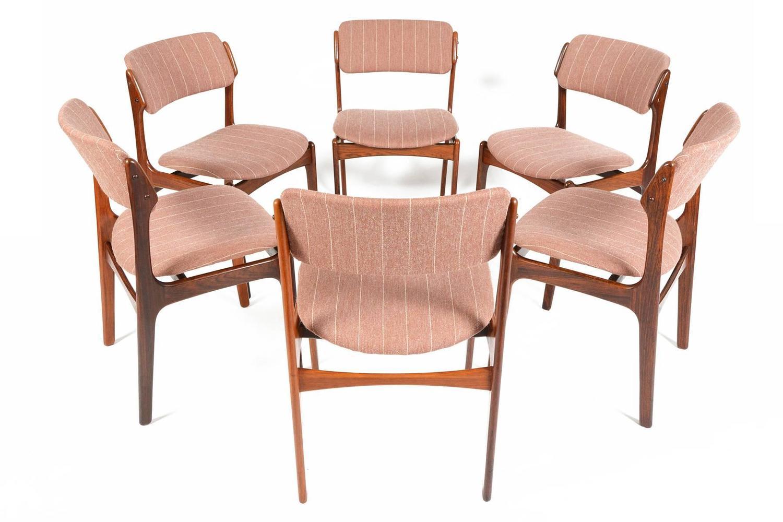 erik buck chairs custom adirondack set of six model 49 dining in rosewood