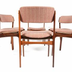 Erik Buck Chairs Chair Slipcovers T Cushion Set Of Six Model 49 Dining In Rosewood