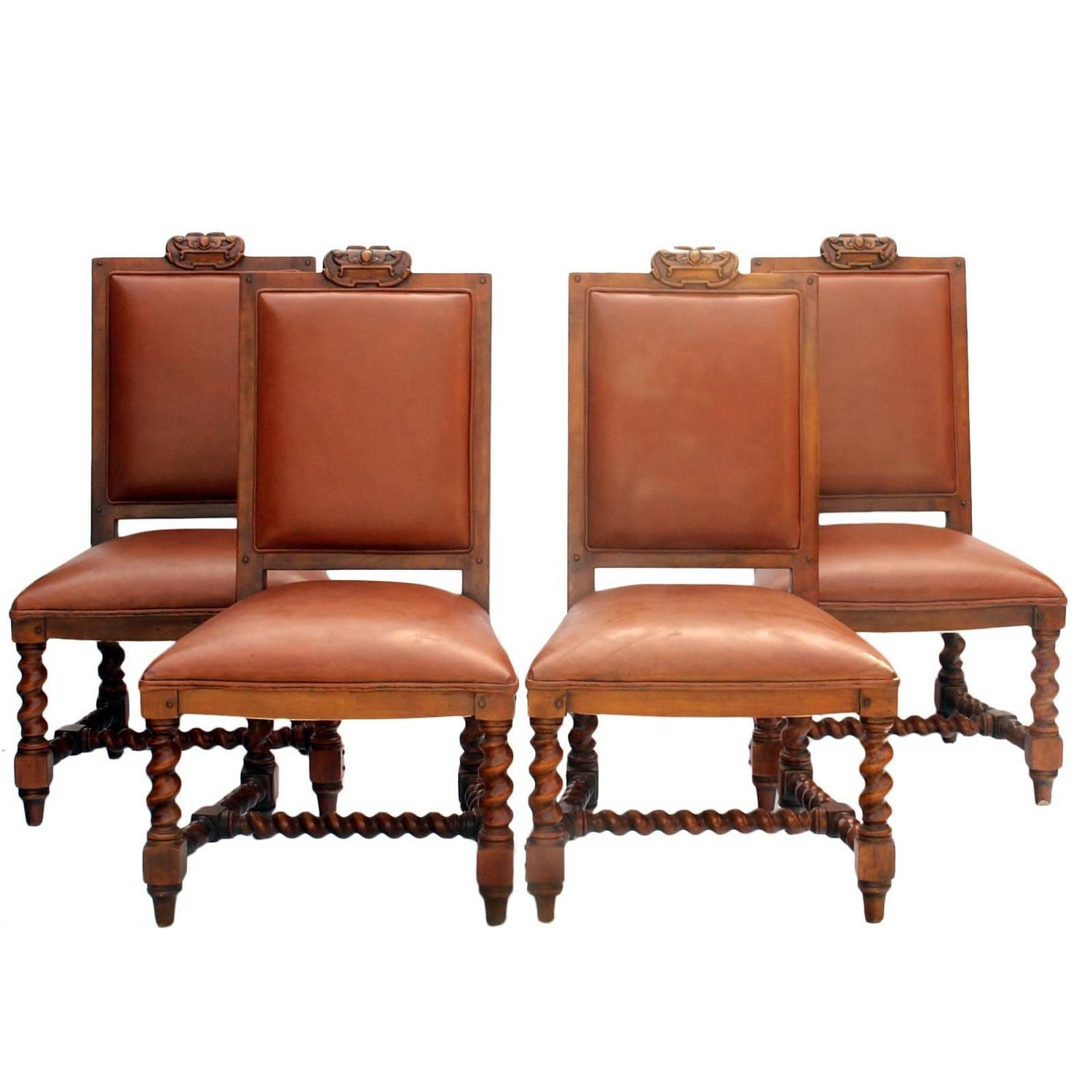 ralph lauren chair buffalo leather four dining chairs by for sale at 1stdibs