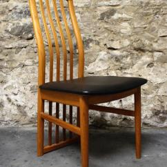 Teak Folding Chairs Canada Small Outdoor Table And Six Kai Kristiansen Dining Room For Schou
