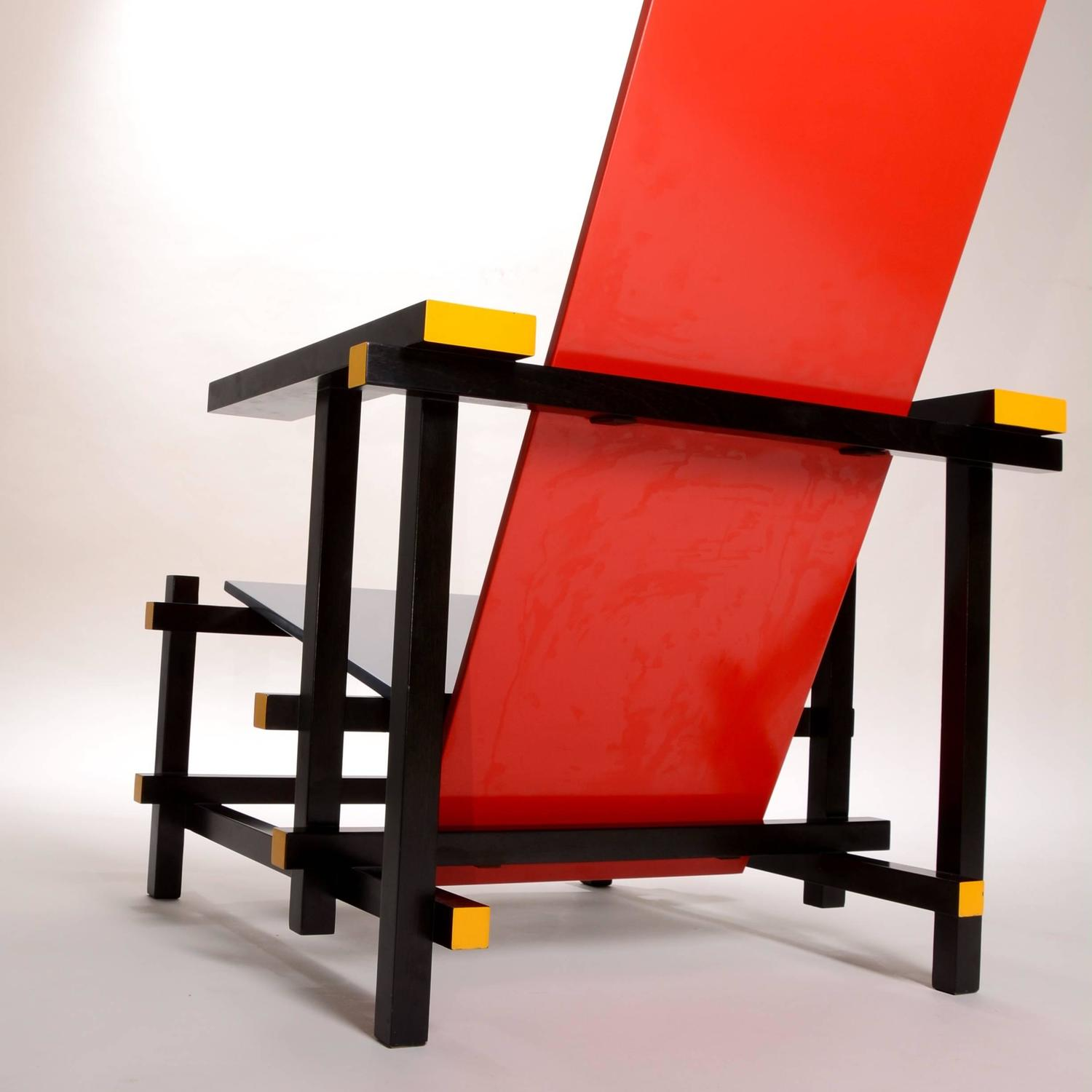red blue chair high back swivel chairs and by thomas rietveld for cassina sale