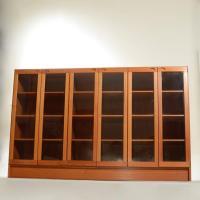 Mid-Century Modern Danish Teak Glass Door Cabinet For Sale ...
