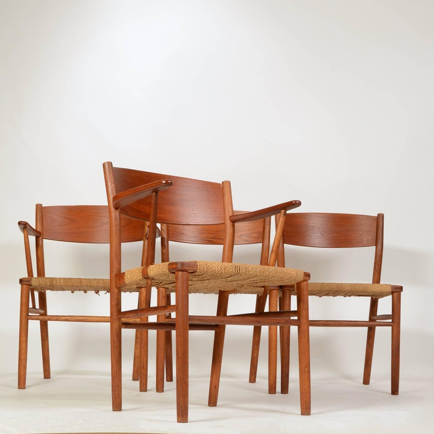 seagrass dining chairs takara belmont barber chair parts set of four børge mogensen for sale