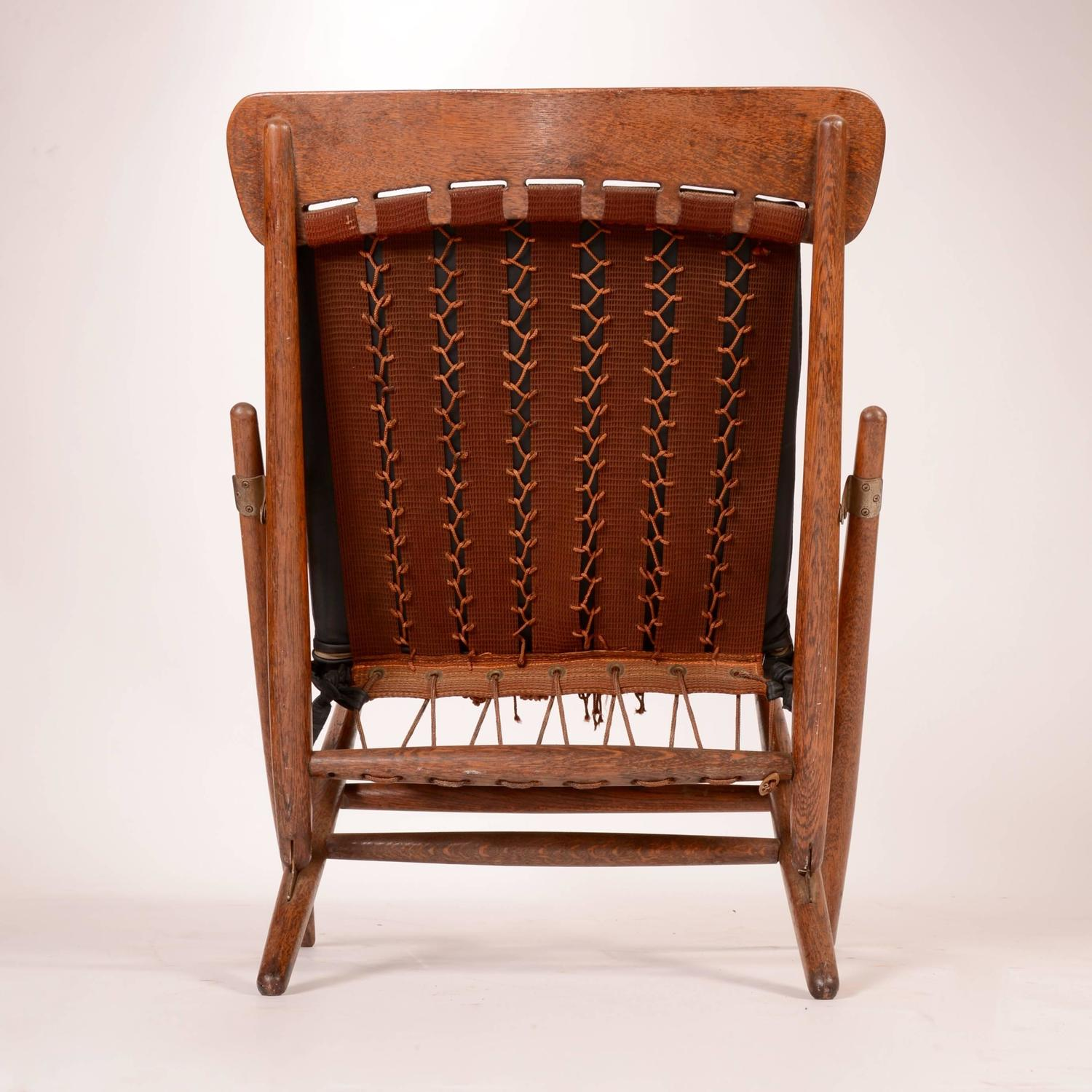 teak folding chair used patio chairs for sale danish and leather side at 1stdibs
