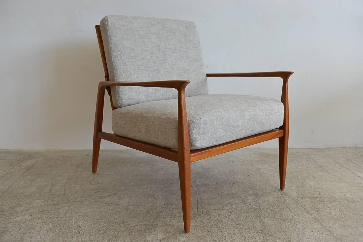cane back chairs for sale canoe chair iii danish lounge in the manner of kofod