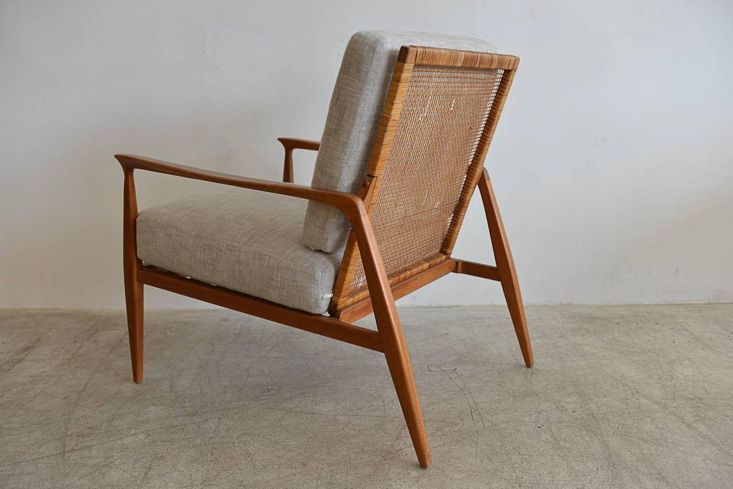 cane back chairs for sale bloom baby high chair danish lounge in the manner of kofod