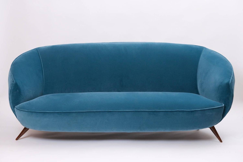sofa ball stopper 3 seater bed ico parisi style circa 1950 at 1stdibs