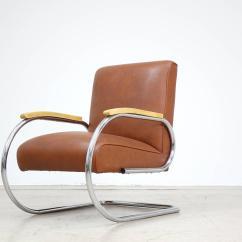 Easy Chair Nadir Steel Chrome Revolving Cylinder Tubax Bauhaus 1920 Tube Lounge