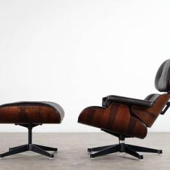 Charles Eames Lounge Chair Revolving Seat Cover And Ottoman Rosewood Brown Leather Mid Century Modern