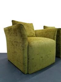 Pair of Mid-Century Italian Style Split Wing Arm Lounge ...
