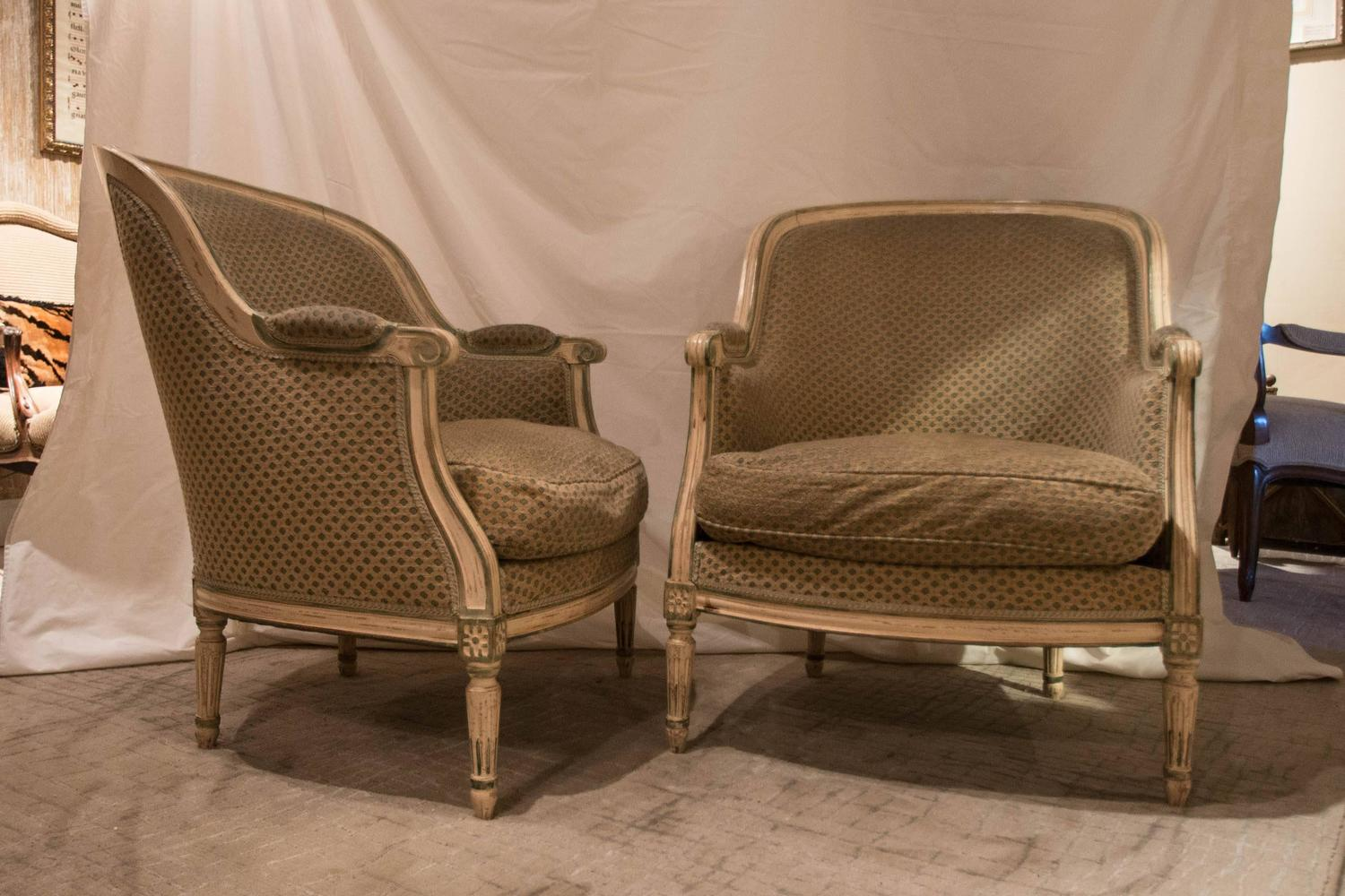 hickory chair louis xvi cotton covers uk pair of style french bergere chairs for sale at