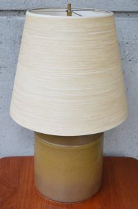 Rare Early Ceramic Gunnar and Lotte Bostlund Lamp in Brown ...