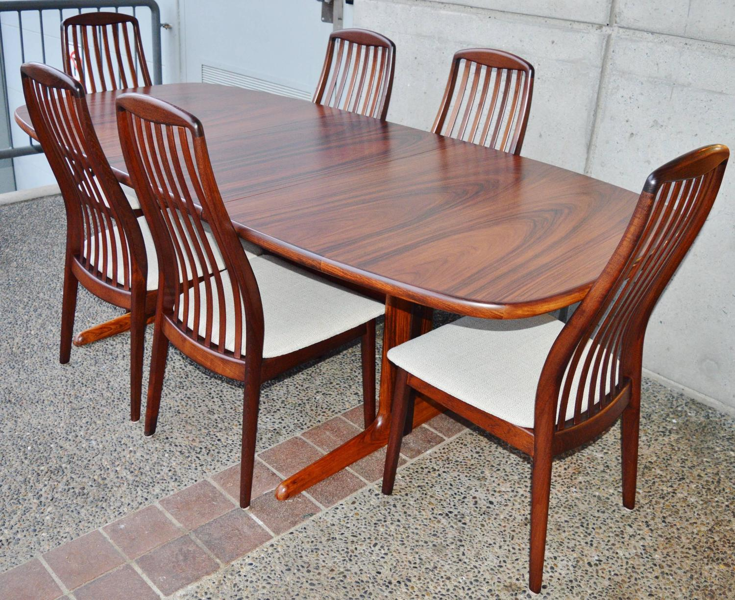 skovby rosewood dining chairs christmas chair covers danish set by at 1stdibs