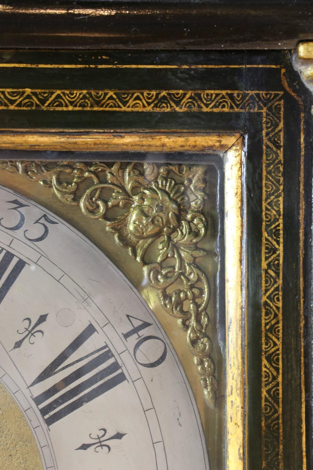 George Iii Chinoiserie Japanned Longcase Clock George Iii Green-japanned Chinoisserie Tall Case Clock For