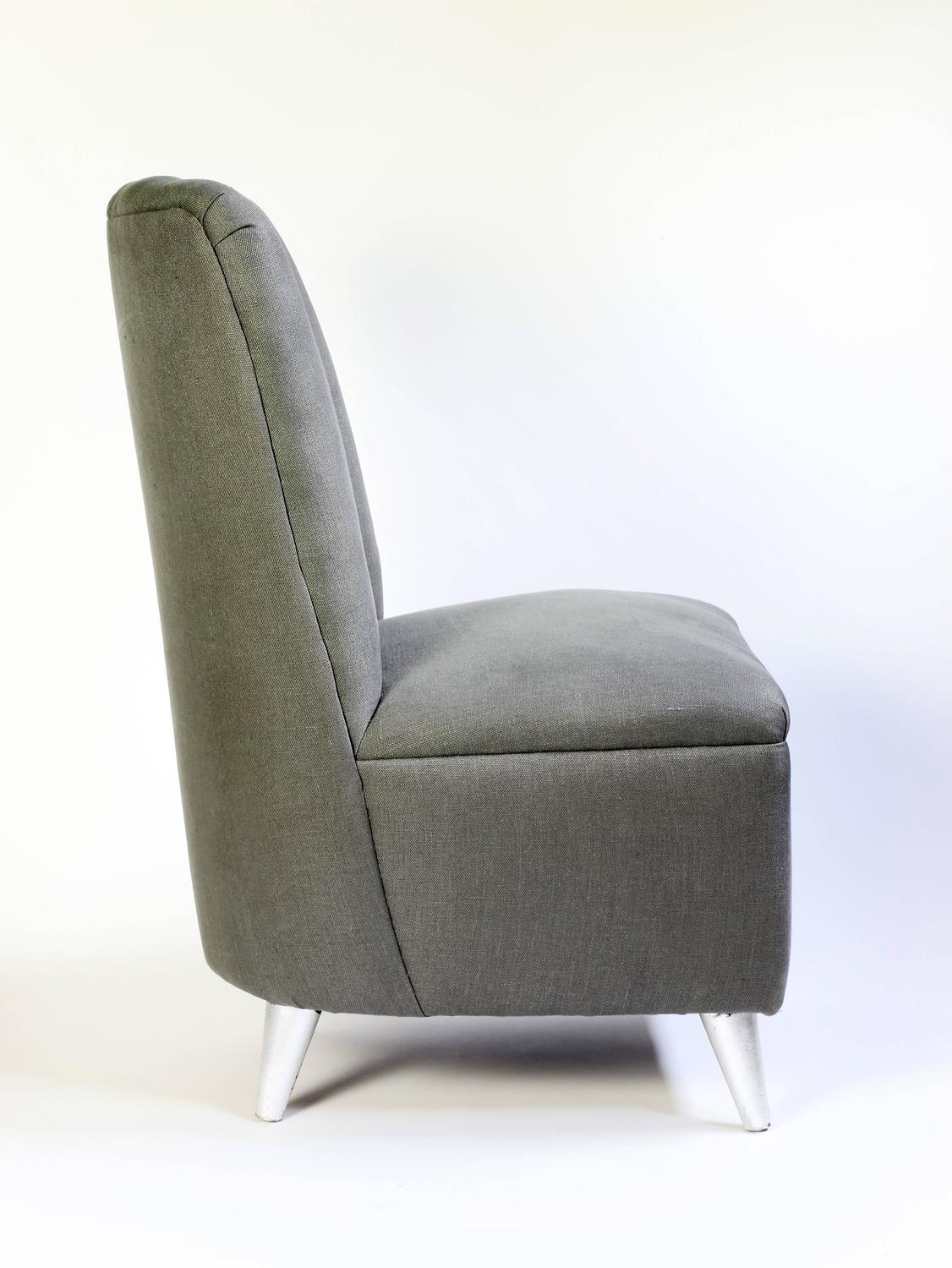 small scale upholstered dining chairs chair covers for rent pair of italian mid century