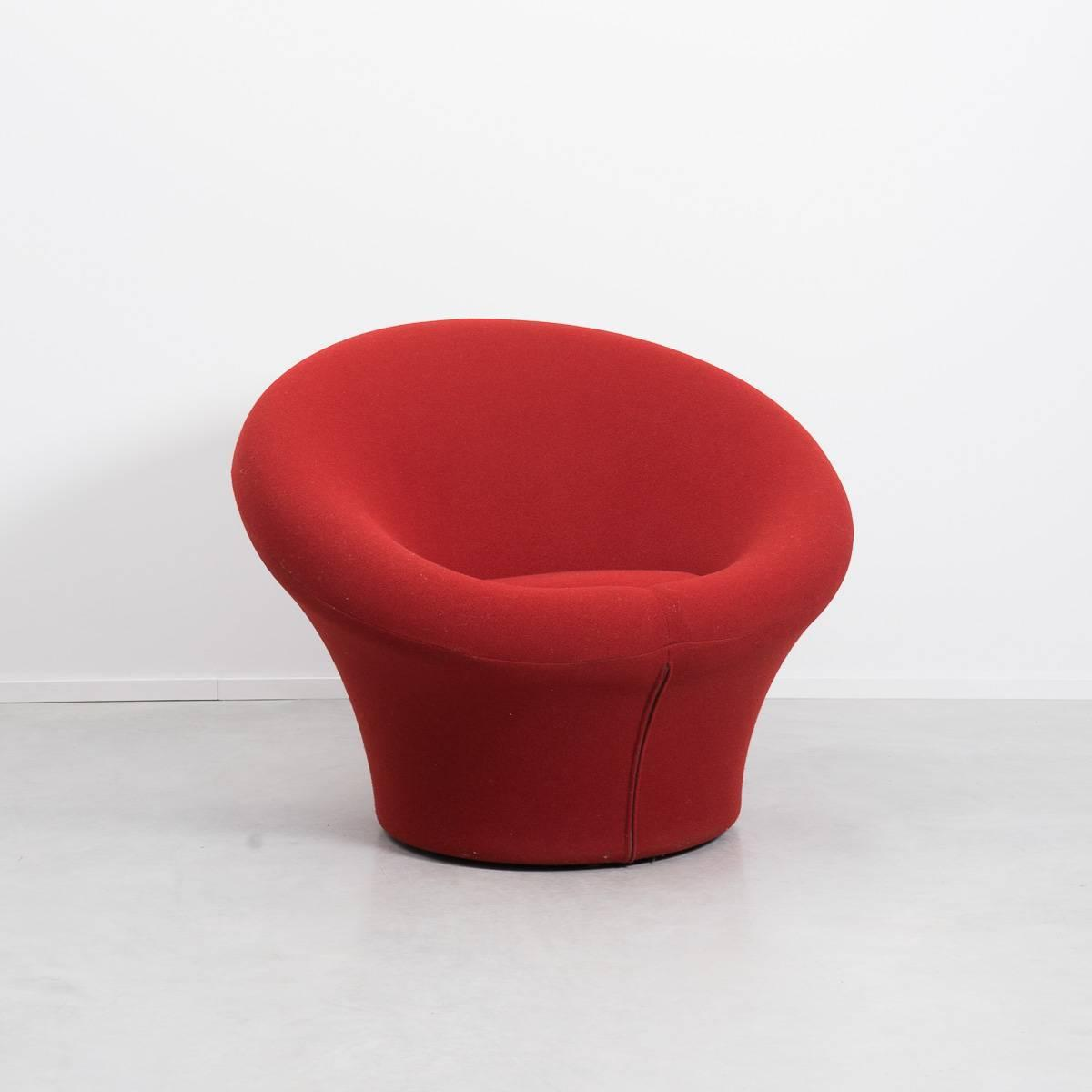 z shaped high chair and a half recliner canada red pierre paulin mushroom for artifort 1960 at 1stdibs