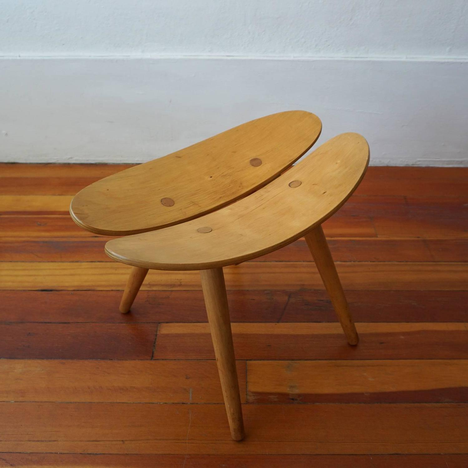 Japanese Chair Modernist Japanese Stool At 1stdibs