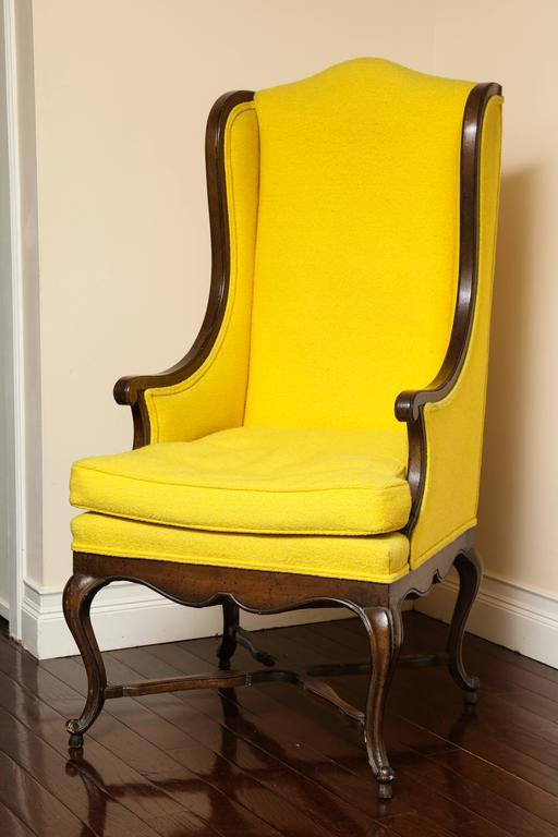 hickory chair louis xvi best rocker recliner swivel vintage french provincial walnut tall back wing at 1stdibs
