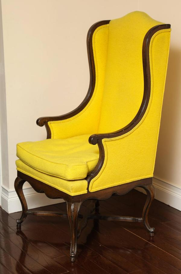 French Provincial Wing Back Chairs