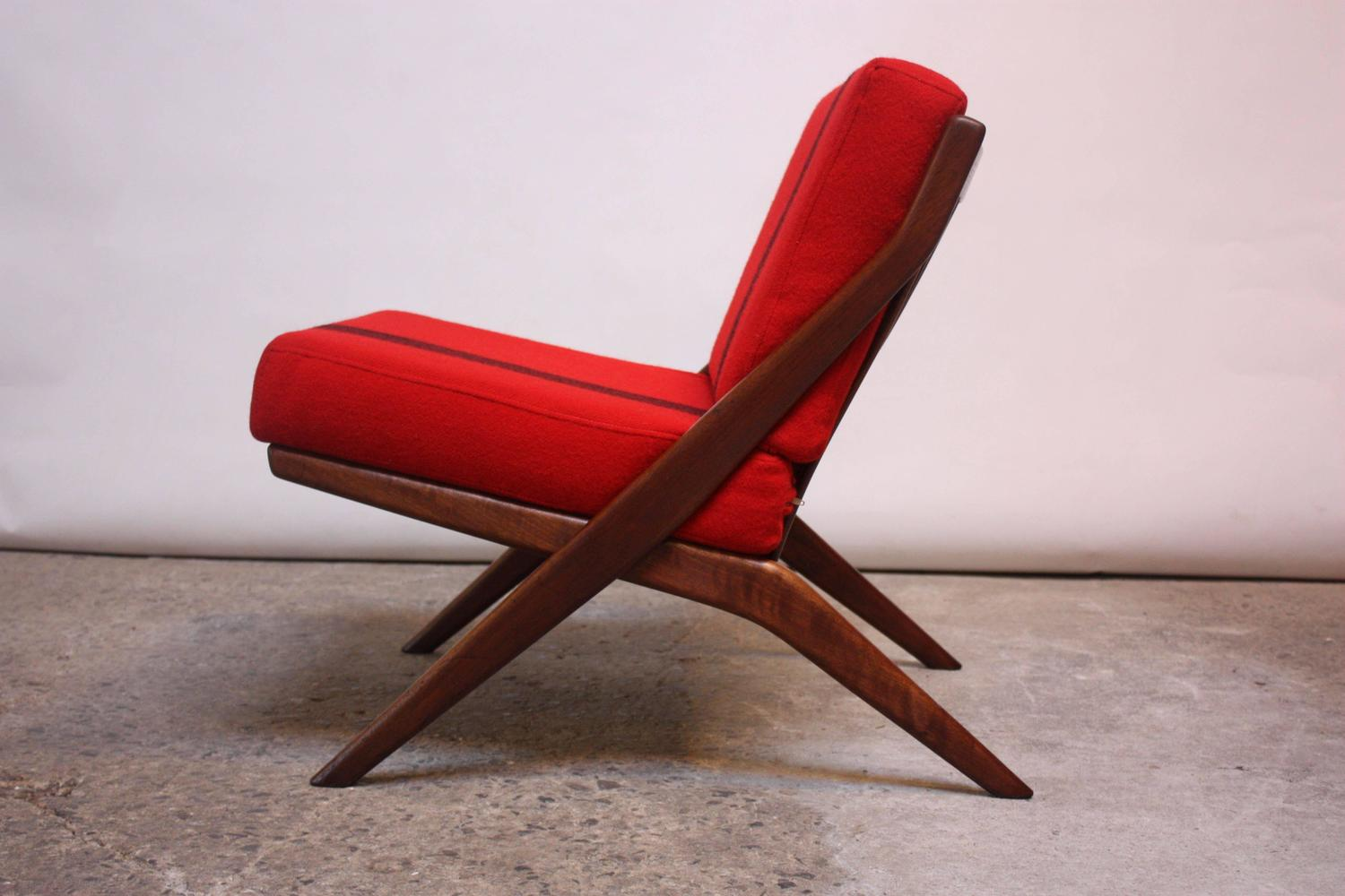 lounge chair replacement straps wingback chairs johannesburg swedish 39scissor 39 by folke ohlsson for dux sale