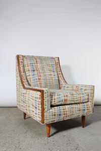 Mid-Century American Modern Lounge Chair with Walnut ...