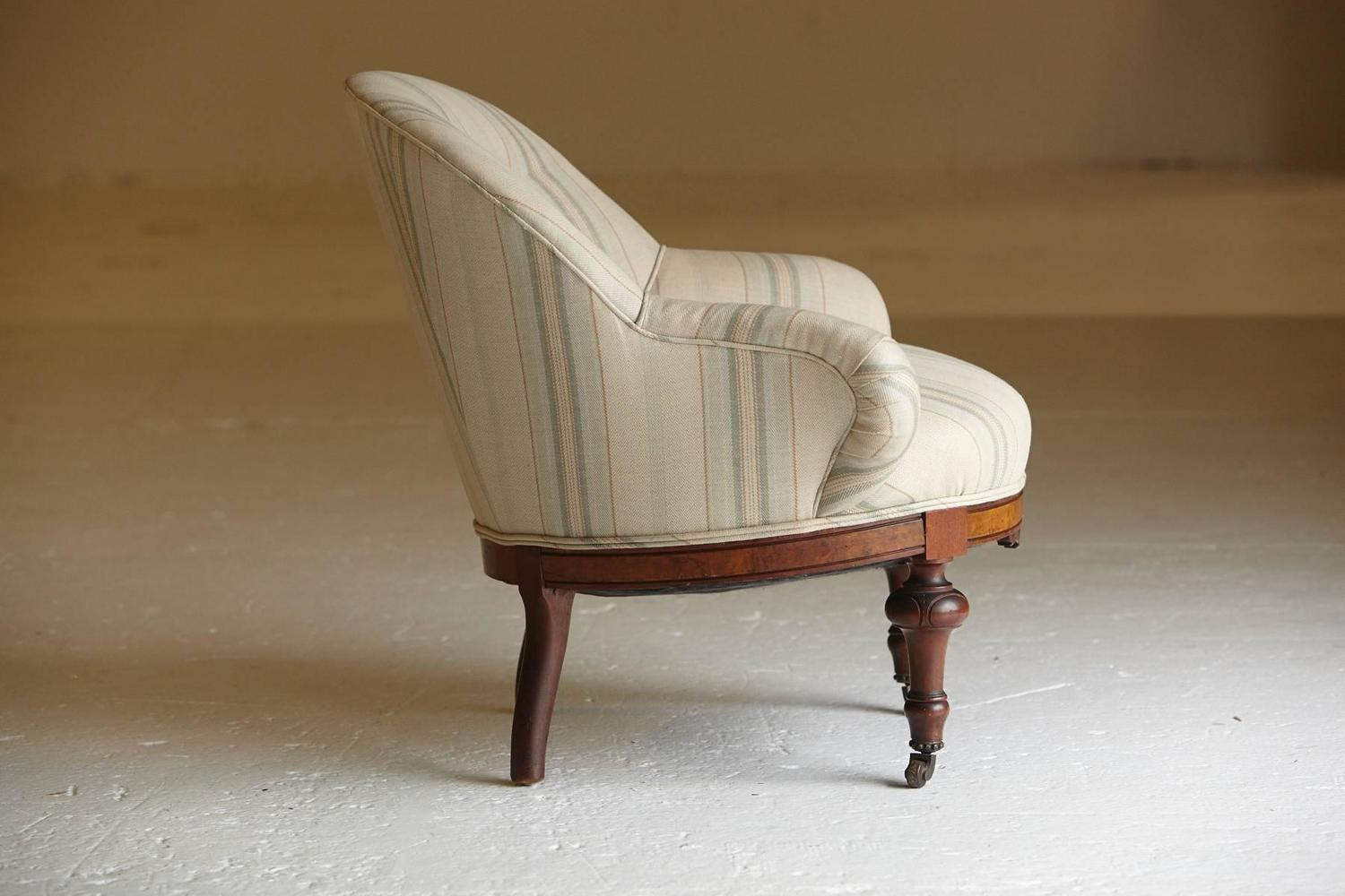 Victorian Barrel Back Armchair 19th Century England For Sale At 1stdibs