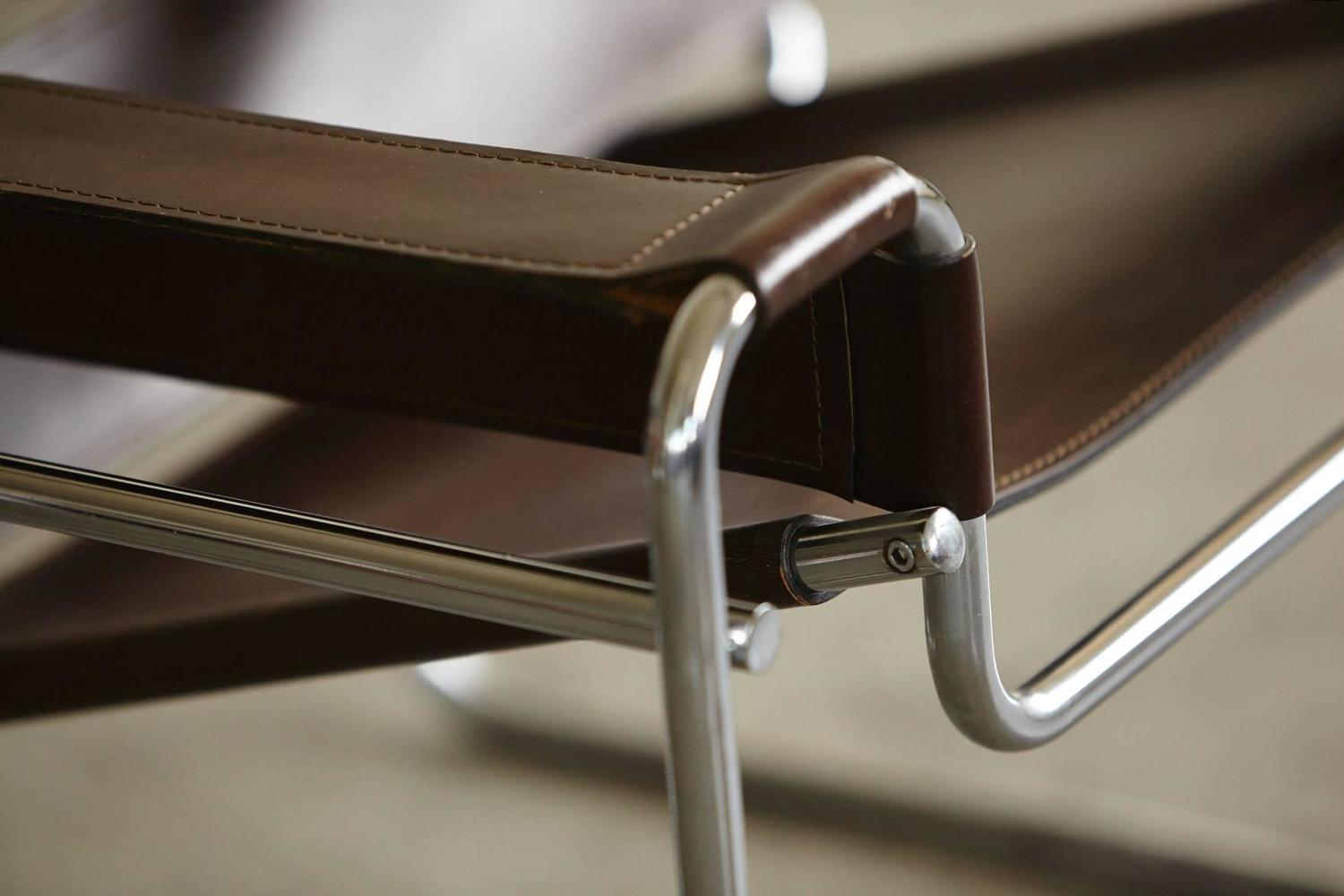 wassily chair brown leather diy sex pair of vintage marcel breuer 39wassily 39 chairs in cognac