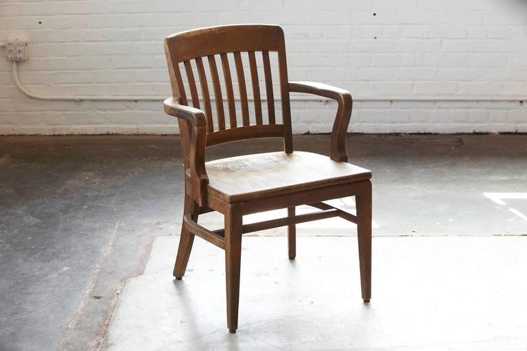 wh gunlocke chair amish 3 in 1 highchair 1920s solid oak office armchair by w h co wayland industrial ny for