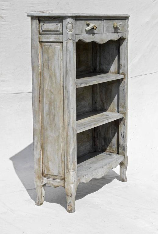 French Country Bookcase With Antler Pulls At 1stdibs