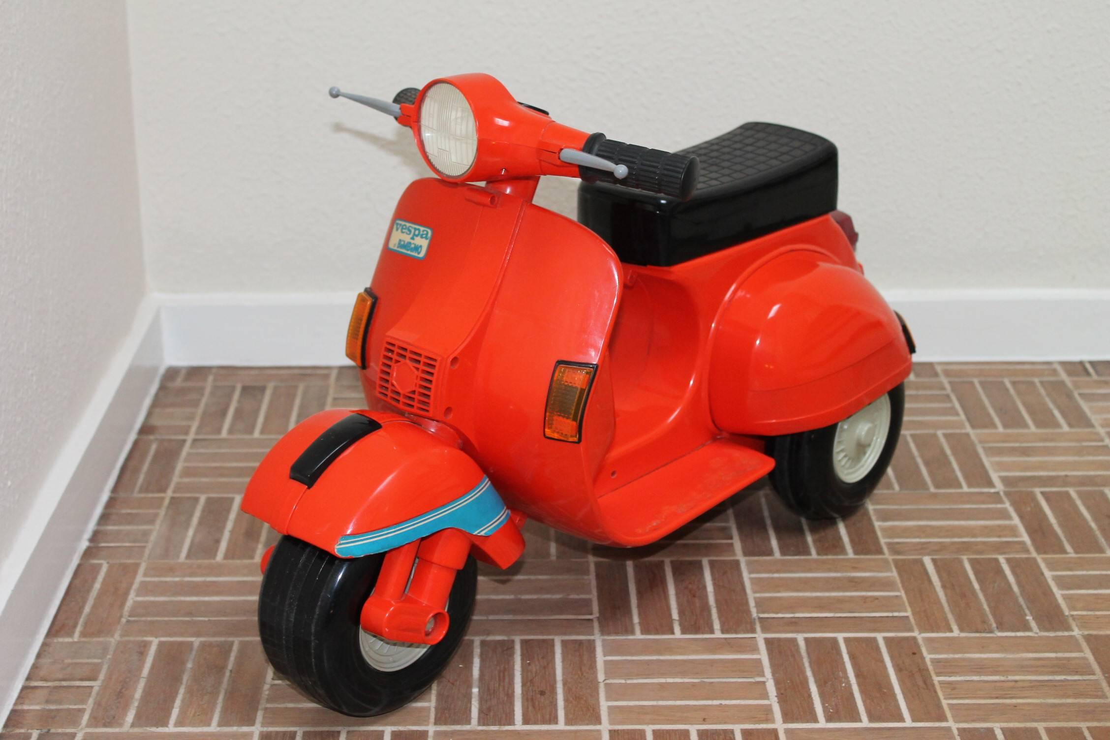 kids car barber chair egg cushion covers 1980s children's vespa scooter at 1stdibs